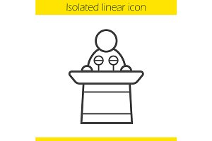 Politician linear icon. Vector