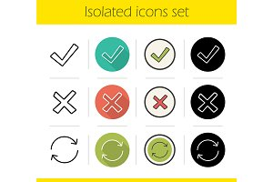 Digital. 12 icons. Vector
