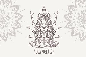 Yoga PDF PNG EPS10 №12