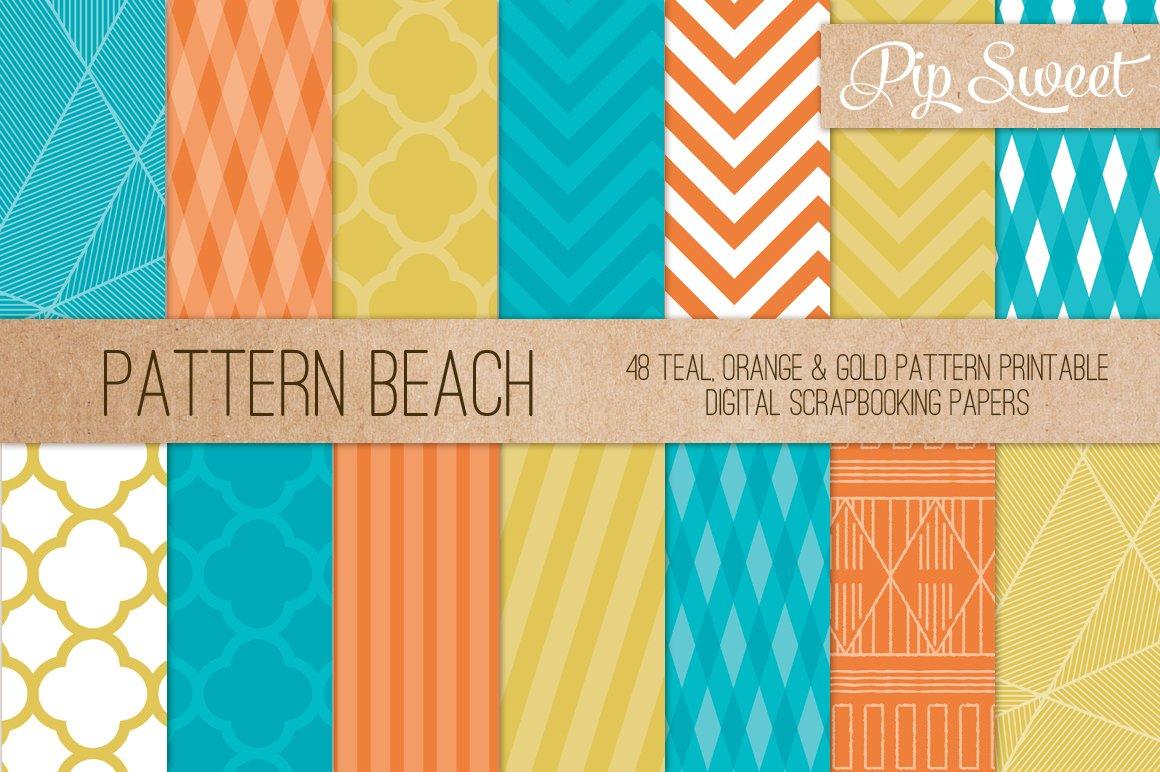 Beach Colour 48 Pattern Set Graphic Patterns Creative