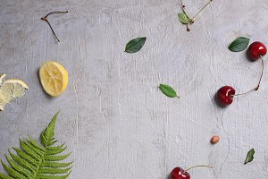 cherries and clafouti dessert