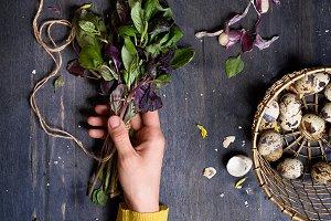 spring salad herbs