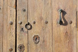 wooden rustic door
