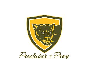 Predator and Prey Hunting Logo