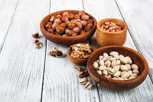 Bowls with different nuts