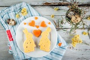Breakfast for Valentine's or Easter