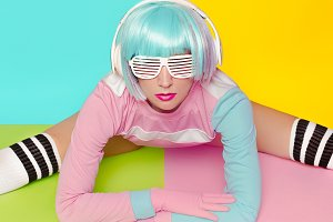 Girl DJ. Doll baby