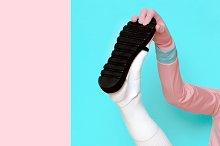 Pop Art. Creative shoes.