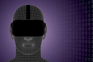 vr headset cyberspace