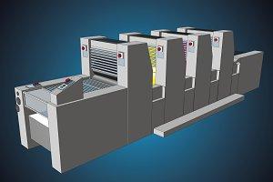 four color printing press