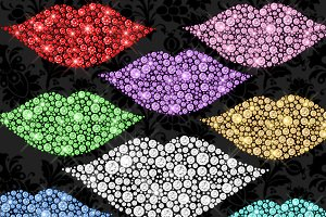 Diamond Lips Clipart