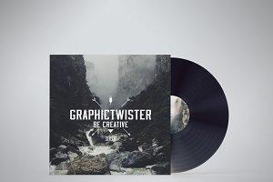 Vinyl PSD Mockup