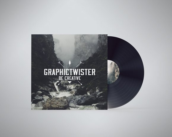 Download Vinyl PSD Mockup