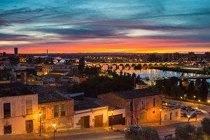 sunset over Badajoz