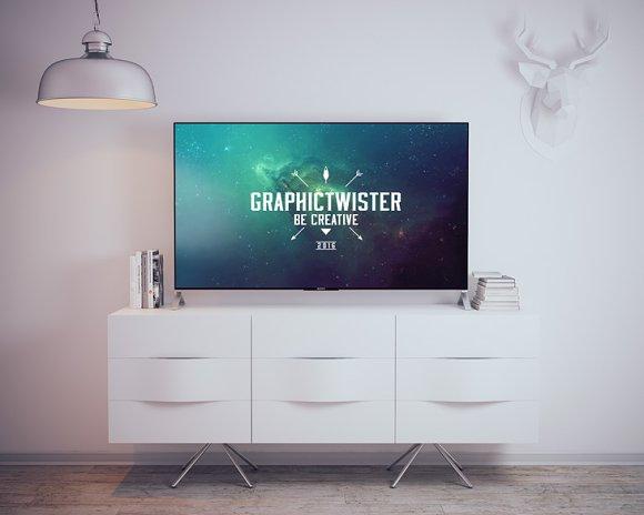 Sony TV Mockup in Product Mockups