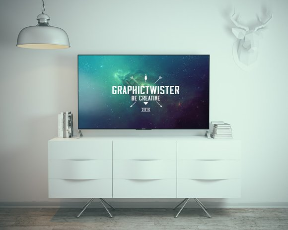 Sony TV Mockup in Product Mockups - product preview 2