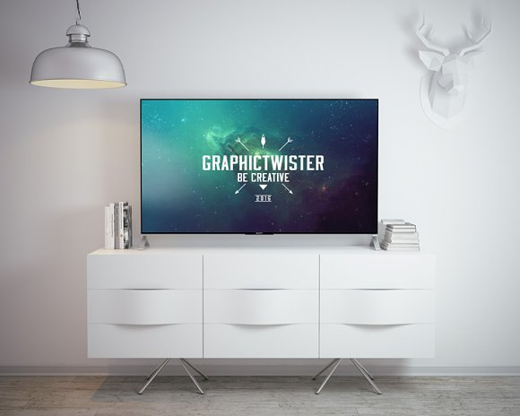 Sony TV Mockup in Product Mockups - product preview 3