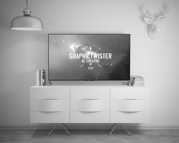 Sony TV Mockup in Product Mockups - product preview 4