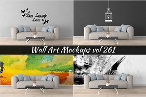 Wall Mockup - Sticker Mockup Vol 261