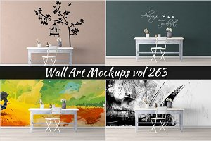 Wall Mockup - Sticker Mockup Vol 263