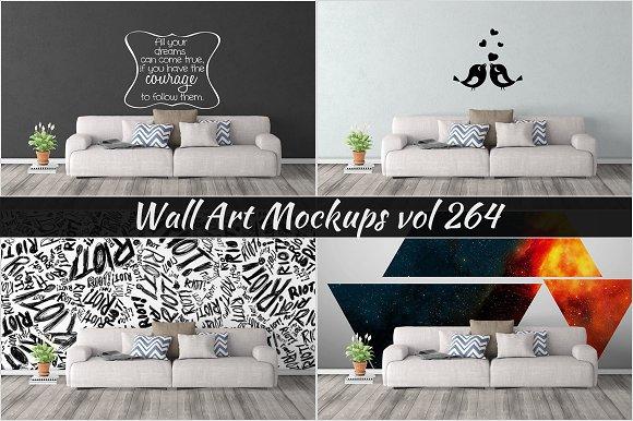 Wall Mockup Sticker Mockup Vol 264