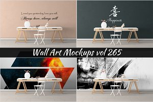 Wall Mockup - Sticker Mockup Vol 265