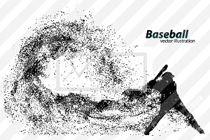 Silhouette of baseball player