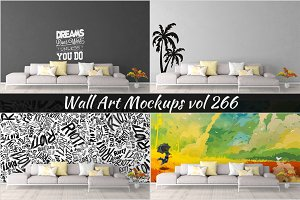 Wall Mockup - Sticker Mockup Vol 266