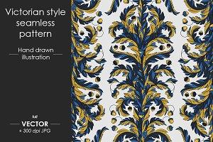 Victorian style seamless patterns