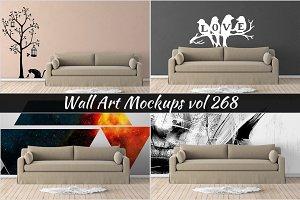 Wall Mockup - Sticker Mockup Vol 268
