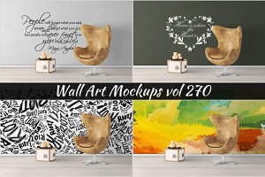 Wall Mockup - Sticker Mockup Vol 270