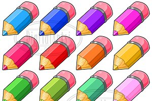 Kawaii Pencil Clipart