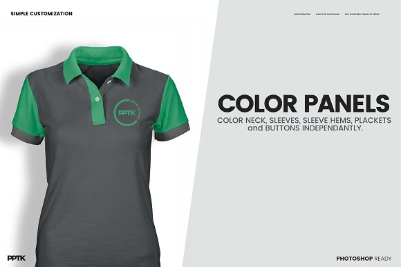 womens ghosted polo shirt templates product mockups creative market