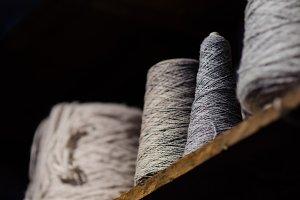 Gray Yarn Spools