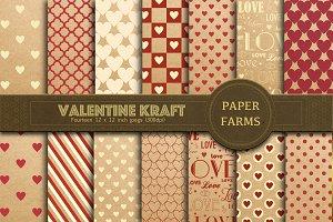 Valentine's kraft digital paper