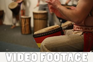 Musical group plays ethnic drums