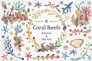 Coral Reefs watercolour set