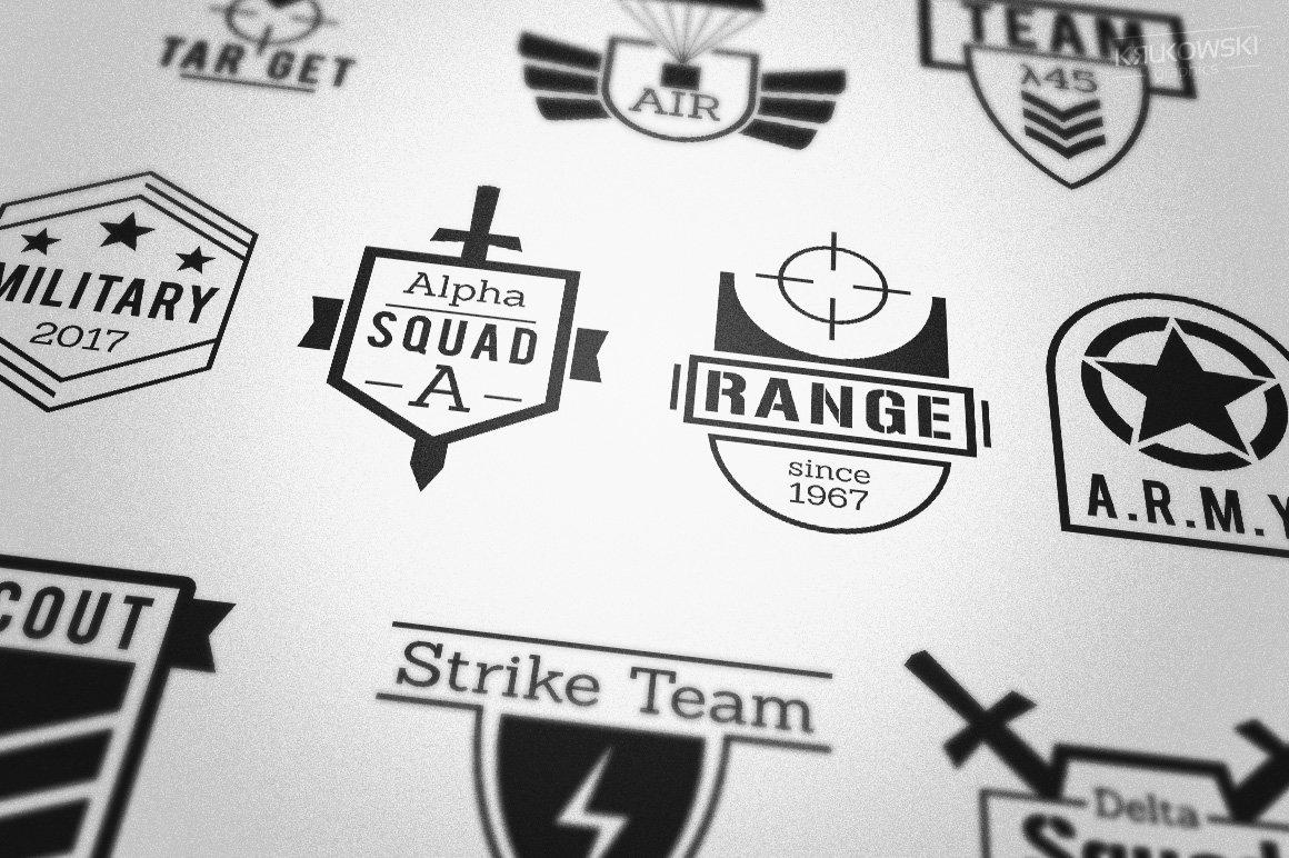 military army style badges logos logo templates creative market
