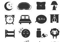 Sleeping symbols set