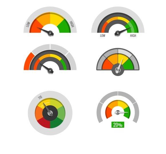 Speedometer Indicators Set