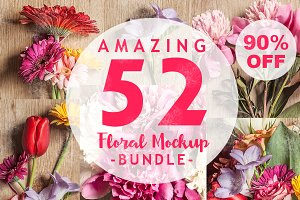 90% OFF - Floral Mock-Up Bundle