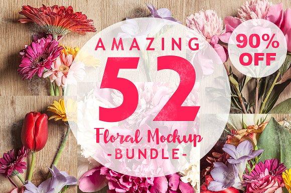 90% OFF Floral Mock-Up Bundle