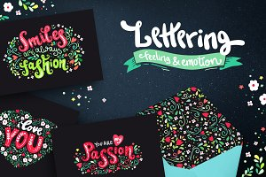 Hand drawn lettering about love