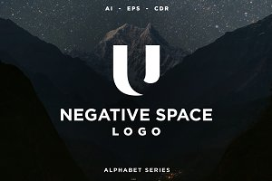 26 Negative Space Logo - Alphabet
