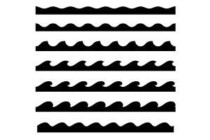 Seamless Wave Pattern Set