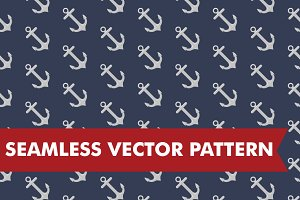 Nautical Anchors Seamless Vector