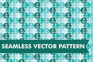 Seamless Vector Nautical Anchors