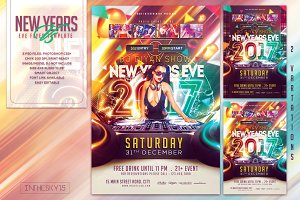 New Years Eve V5 Flyer Template