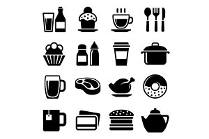 Restaurant and Cafe Food Drink Icons