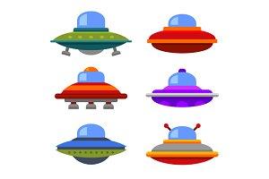 Ufo Spaceship Icon Set
